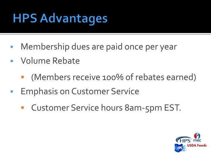 HPS Advantages