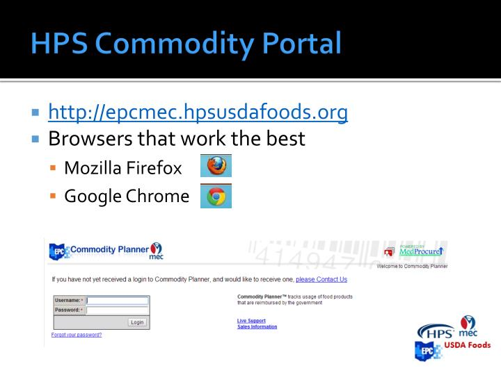 HPS Commodity Portal