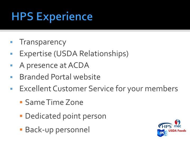 HPS Experience