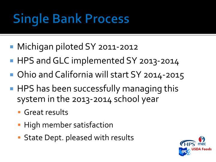Single Bank Process