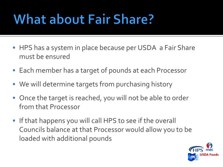 What about Fair Share?