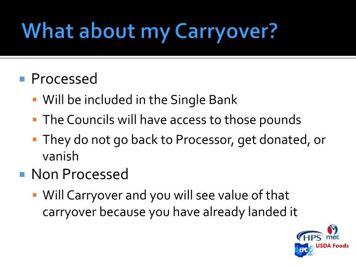 What about my Carryover?