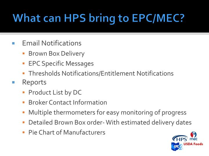What can HPS bring to EPC/MEC?