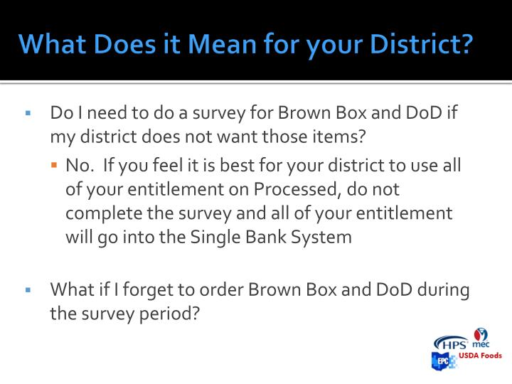 What Does it Mean for your District?