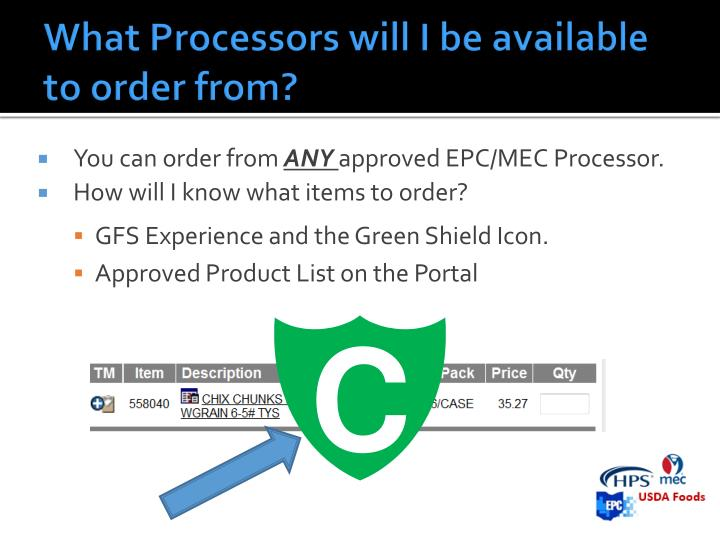 What Processors will I be available to order from?