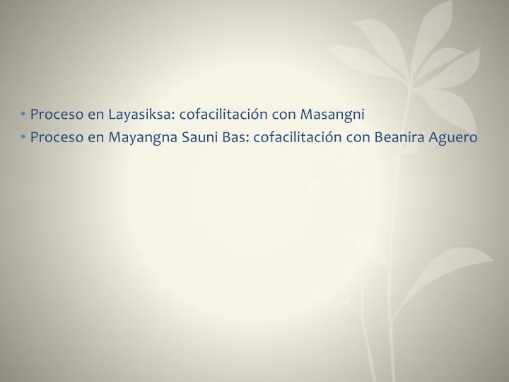 Proceso en Layasiksa: cofacilitación con Masangni