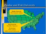 purdue and fisk university