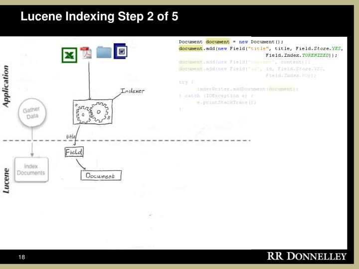 Lucene Indexing Step 2 of 5