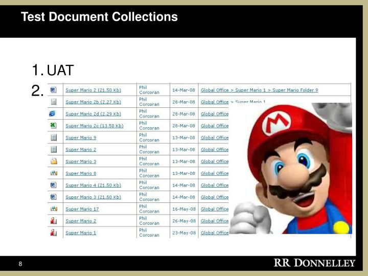Test Document Collections