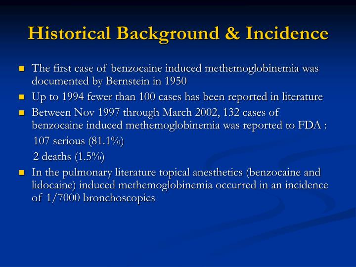 Historical Background & Incidence