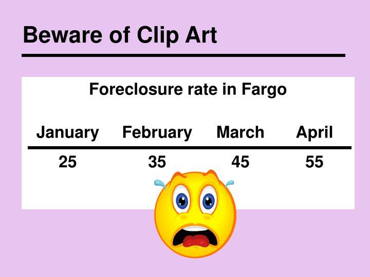 Beware of Clip Art