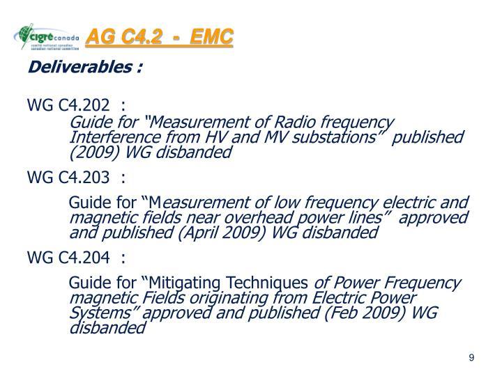 AG C4.2  -  EMC