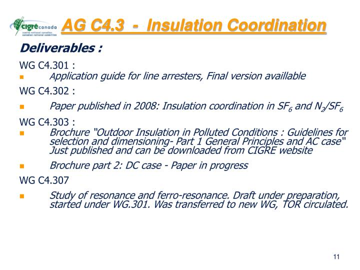 AG C4.3  -  Insulation Coordination