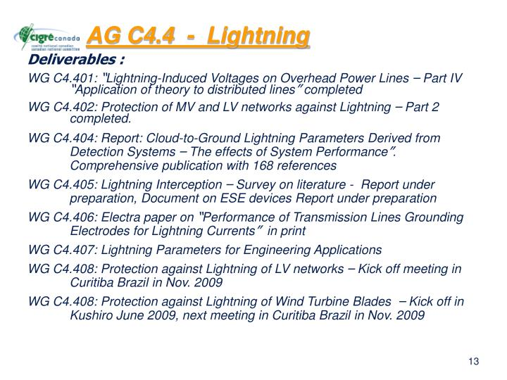 AG C4.4  -  Lightning