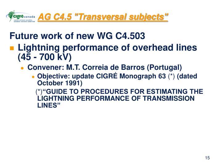 "AG C4.5 ""Transversal subjects"""