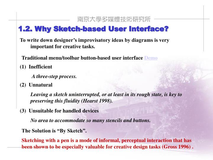 1.2. Why Sketch-based User Interface?