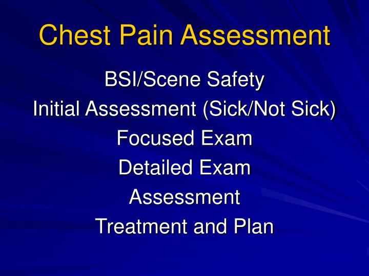 Chest Pain Assessment