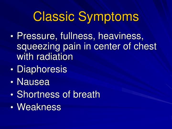 Classic Symptoms