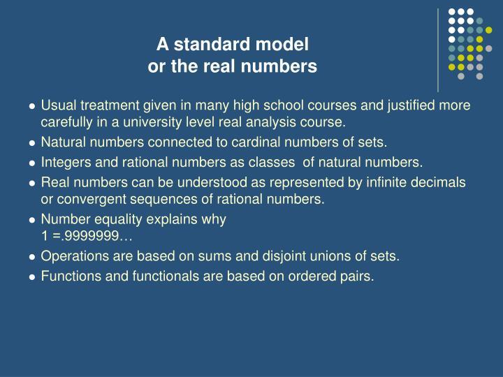 A standard model