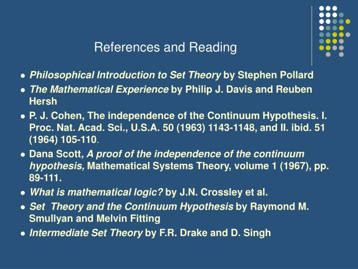 References and Reading