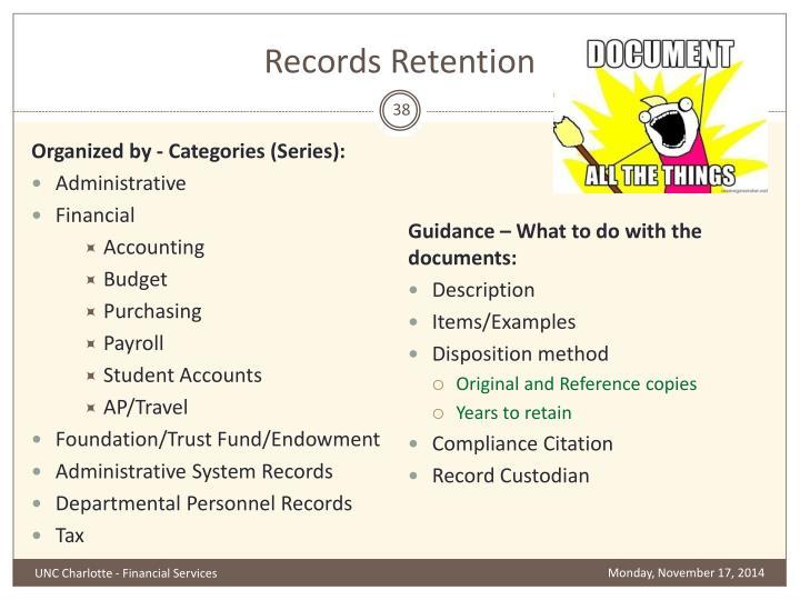 Records Retention