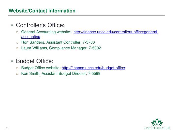 Website/Contact