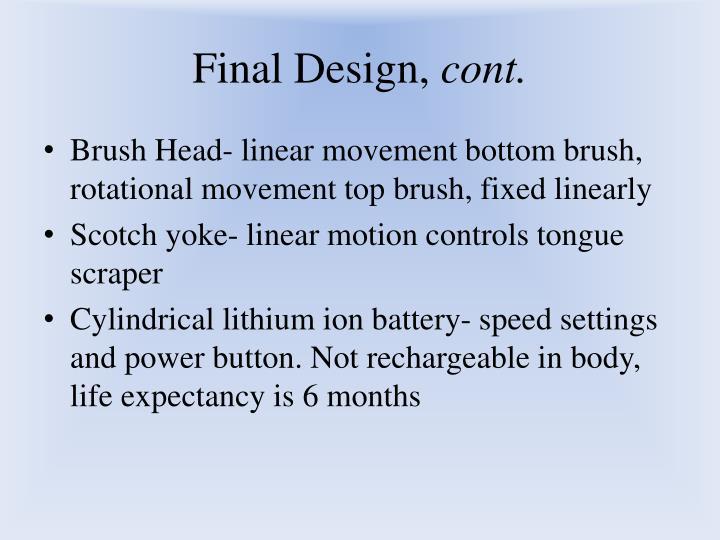 Final Design,