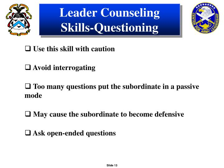 Leader Counseling Skills-Questioning