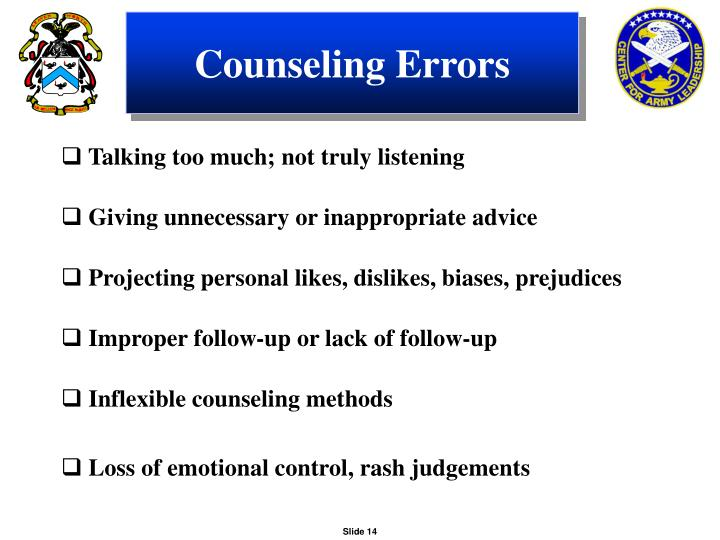 Counseling Errors