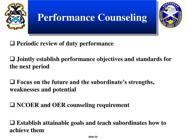 Performance Counseling