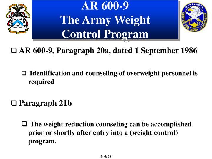 AR 600-9