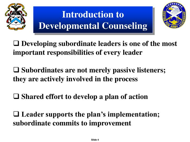 Introduction to Developmental Counseling