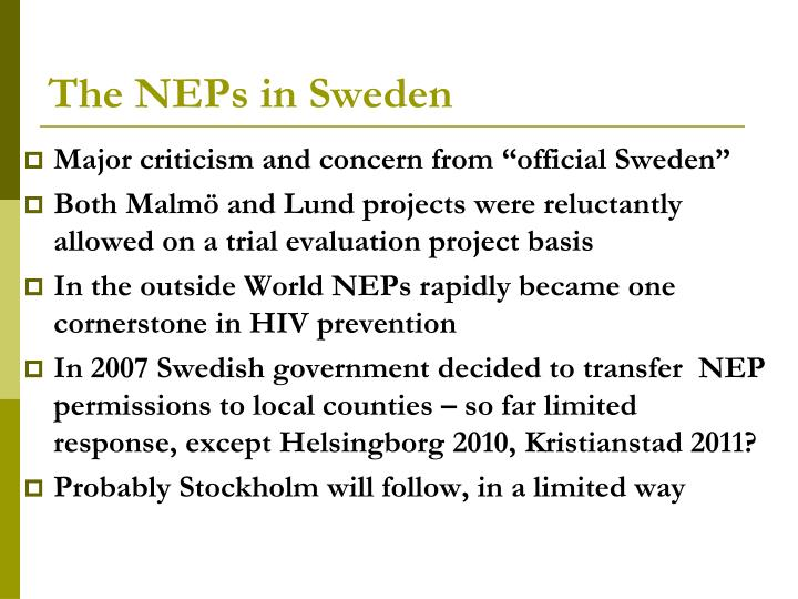 The neps in sweden1