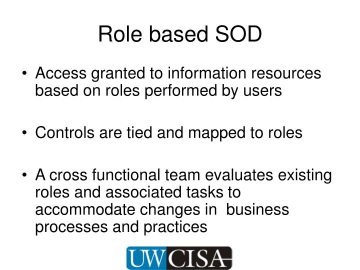 Role based SOD