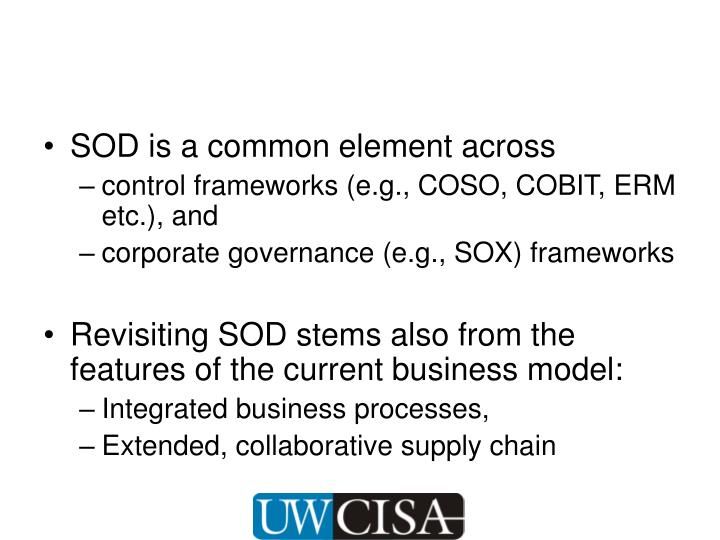 SOD is a common element across