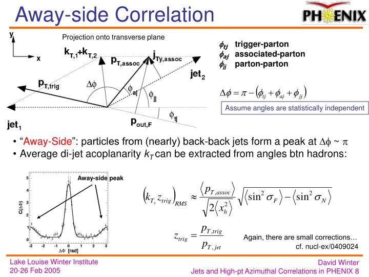 Away-side Correlation