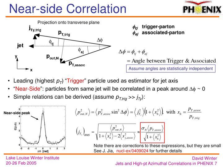Near-side Correlation