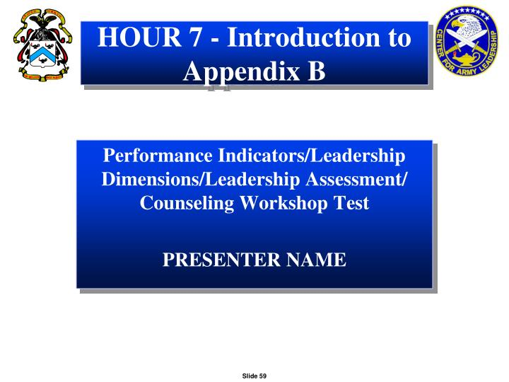 HOUR 7 - Introduction to Appendix B