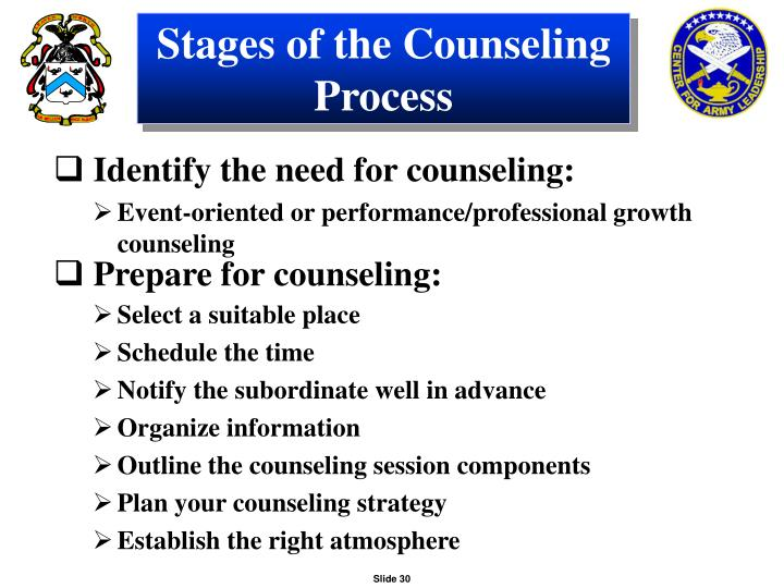 Stages of the Counseling Process