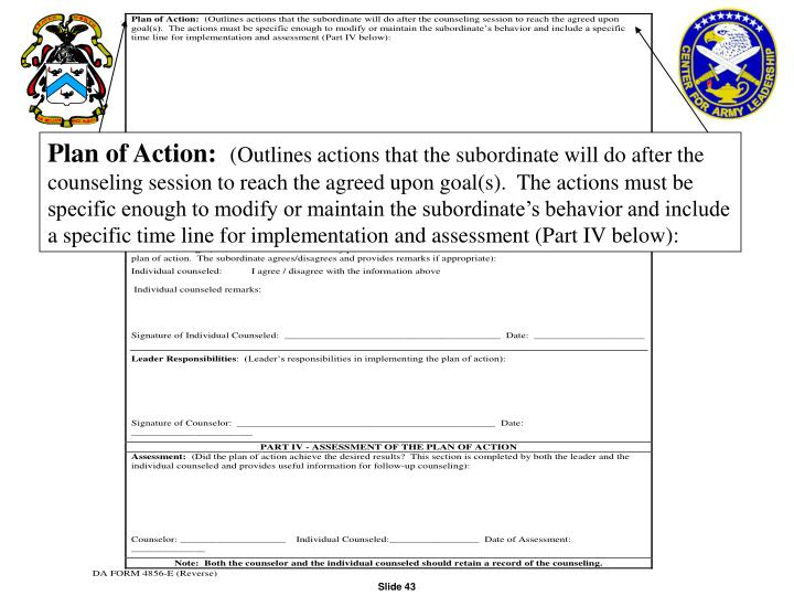 Plan of Action: