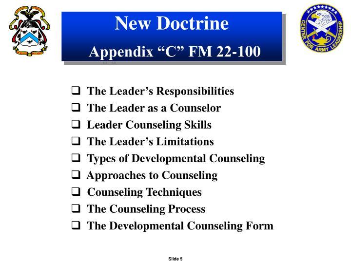 New Doctrine