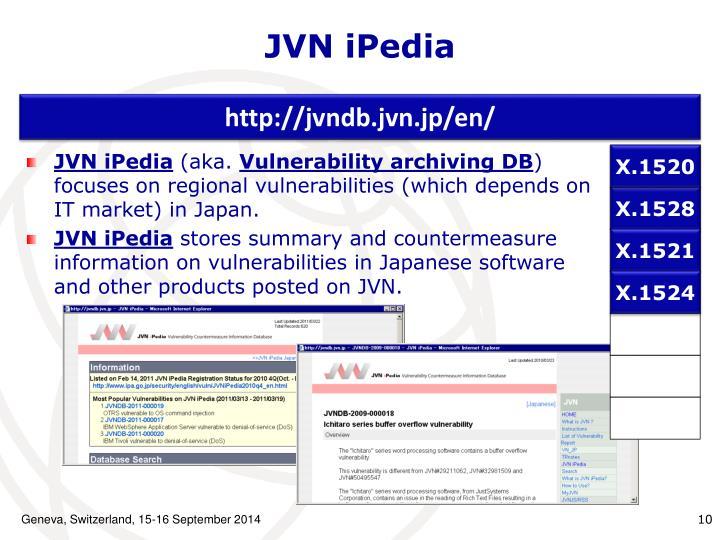 JVN iPedia