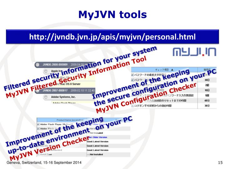 MyJVN tools