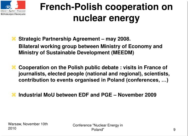 French-Polish cooperation on nuclear energy