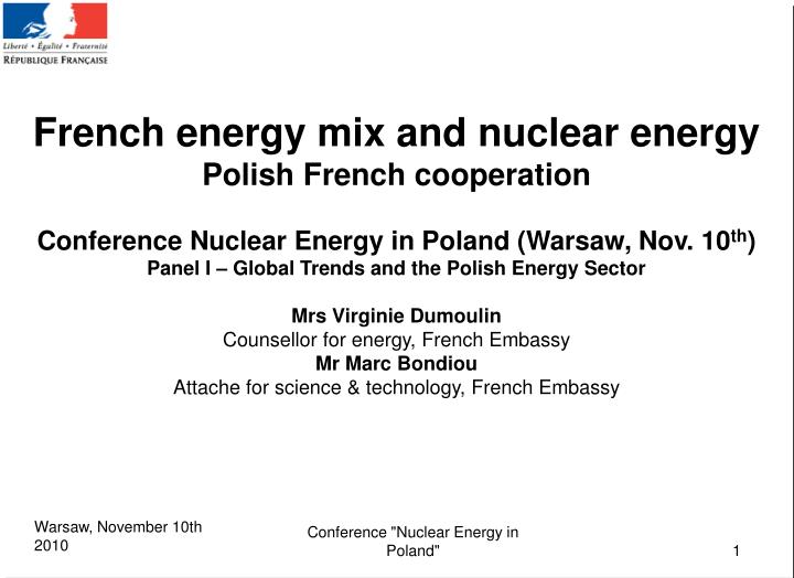 French energy mix and nuclear energy
