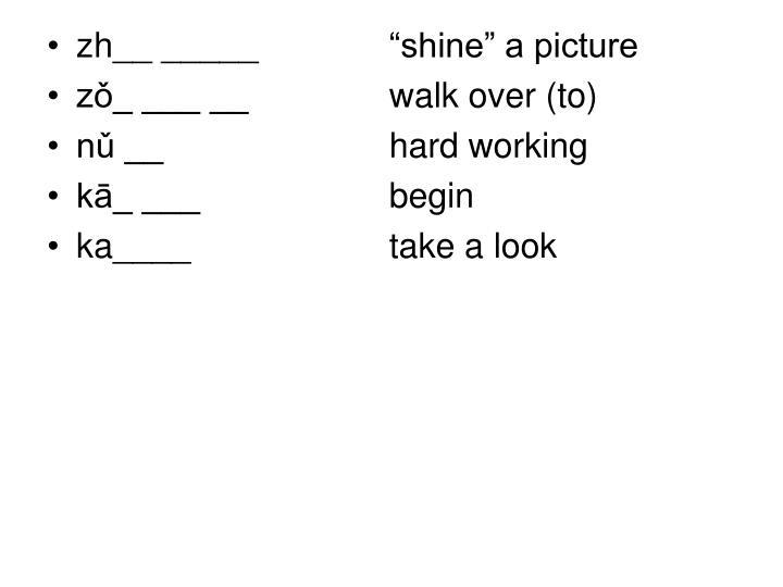 """zh__ _____   """"shine"""" a picture"""