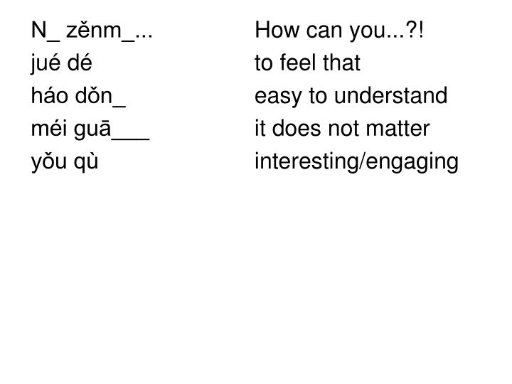 N_ zěnm_...   How can you...?!
