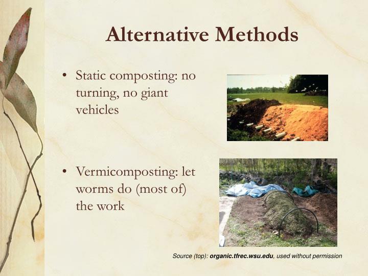 Alternative Methods