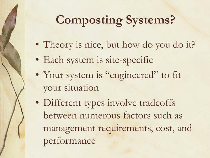 Composting Systems?