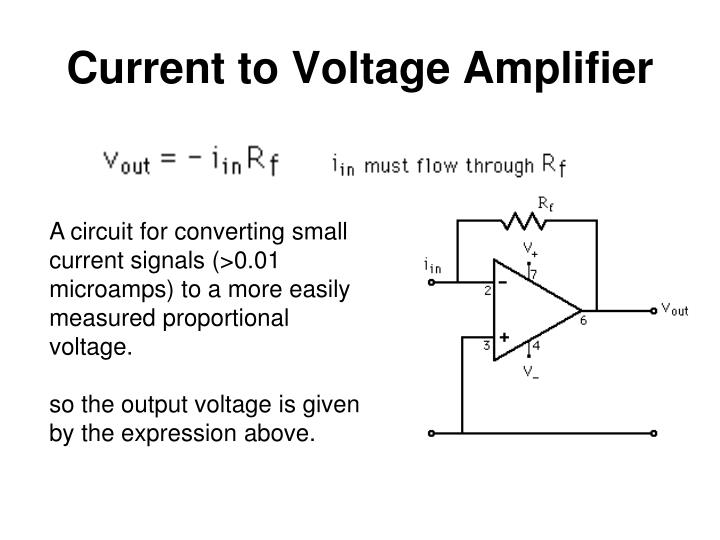 Current to Voltage Amplifier
